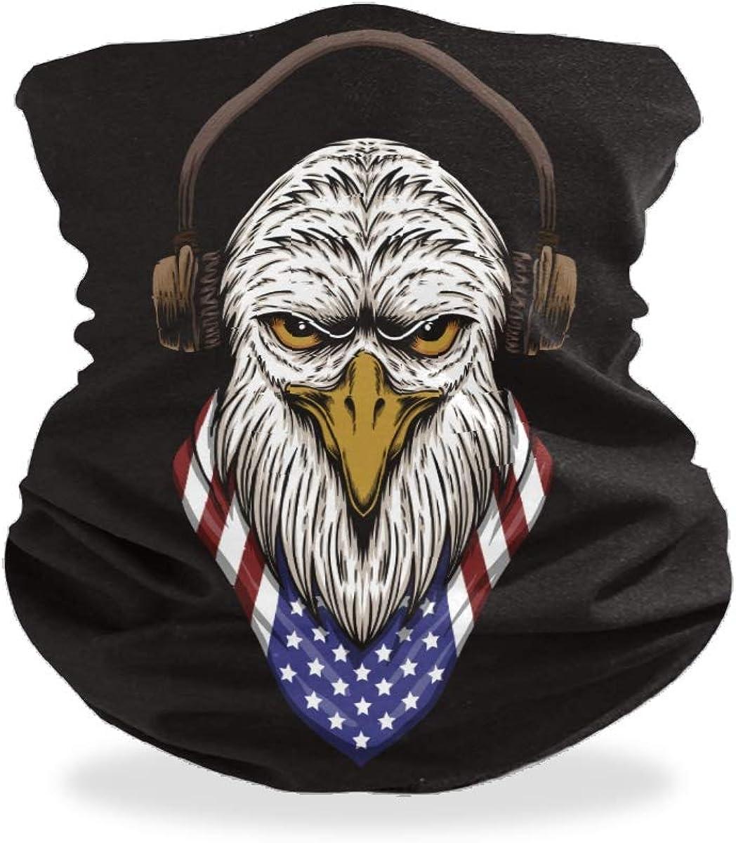 Eagle Head USA Unisex Máscara de boca sin costuras Bandanas Mascarilla facial Pasamontañas Diademas bufanda cubierta cuello polaina para adultos hombres mujeres deportes al aire libre
