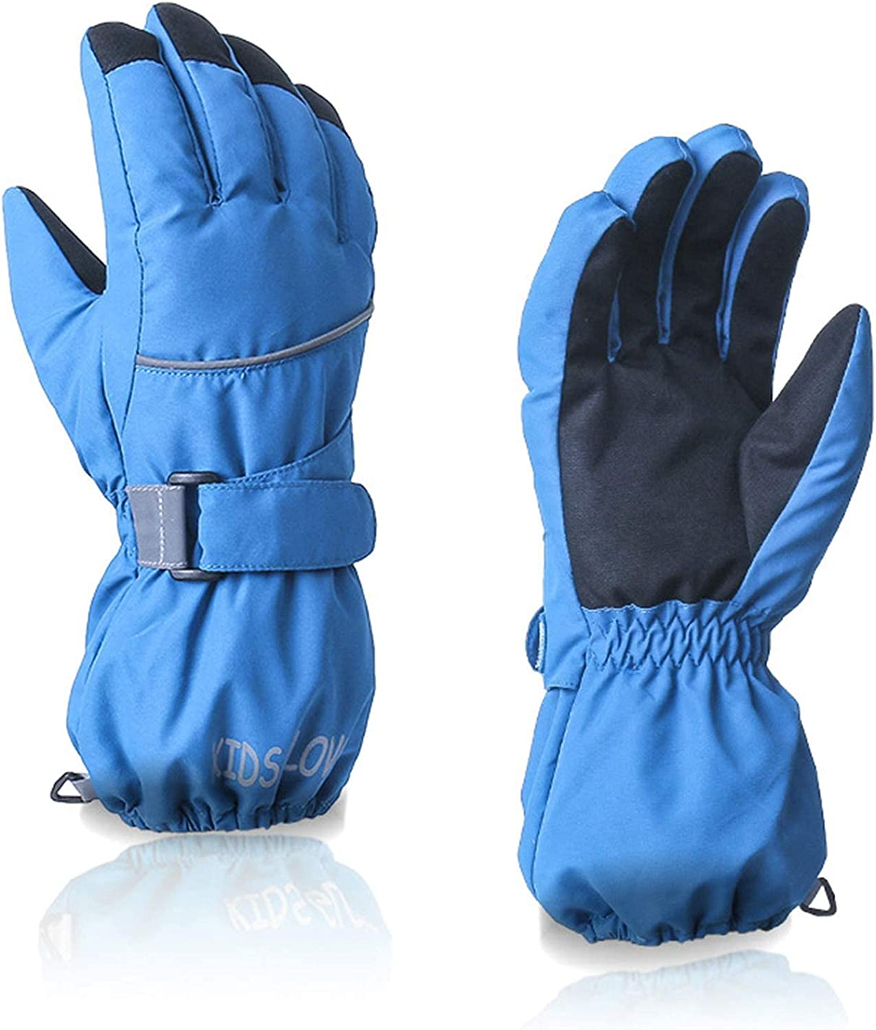 hangZUYy Kids Child Ski Gloves, Full Finger Mittens, Waterproof Windproof Winter Warm Gloves for Skiing/Cycling Children Mittens for 4 to 6 Years