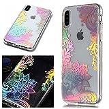 MHHQ Custodia iPhone X, Glitter Laser Colorato Silicone Copertura Case Protettivo Skin Cri...