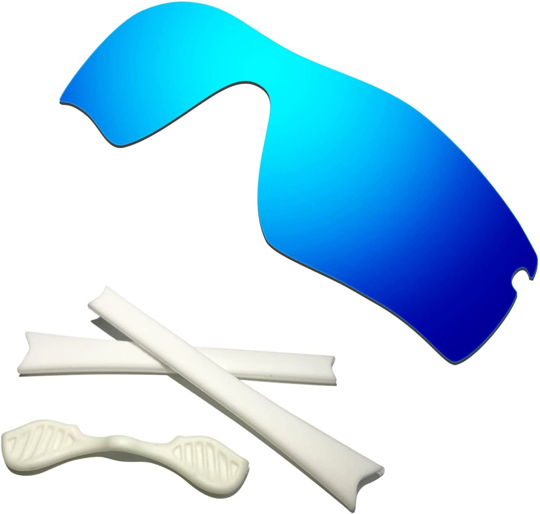 HKUCO ※ラッピング ※ お洒落 Blue Polarized Replacement Lenses Plus Earsocks Rubb White