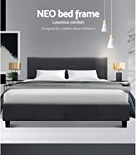 Artiss Queen Size Fabric Bed Frame - Charcoal