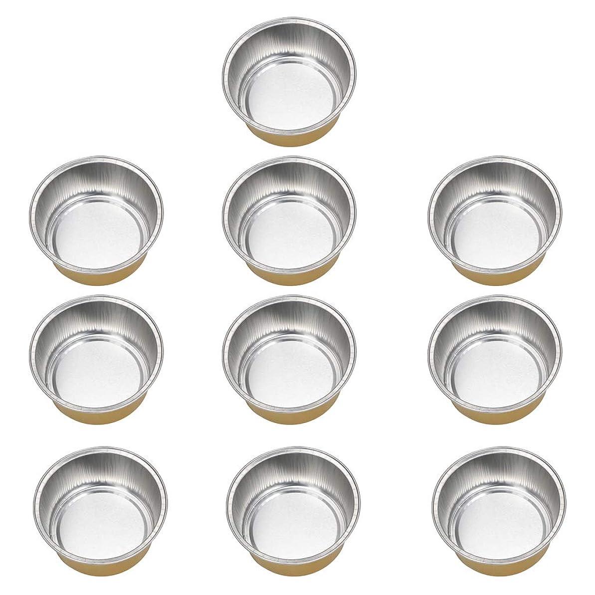 ベーコン言語学ヘッドレスFLAMEER 10個 ワックスボウル ミニボウル アルミホイルボウル ワックス豆体 溶融 衛生的 2種選ぶ - ゴールデン2, 02