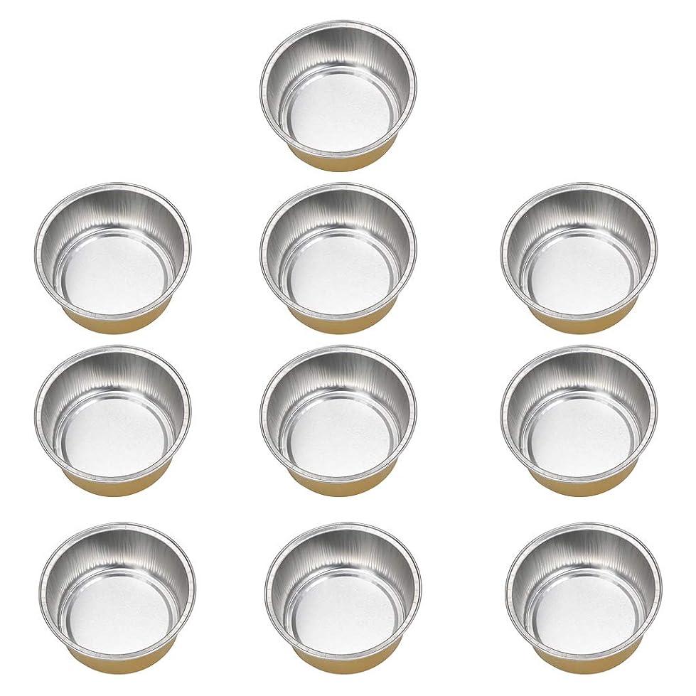 石油急ぐおじさんFLAMEER 10個 ワックスボウル ミニボウル アルミホイルボウル ワックス豆体 溶融 衛生的 2種選ぶ - ゴールデン2, 02