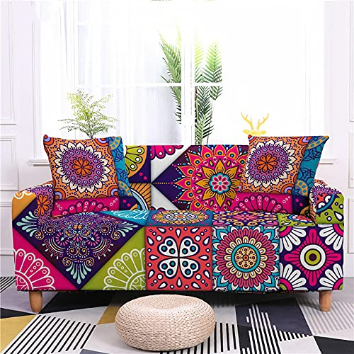 MMHJS Simple Sofa Cover Printing All-Inclusive Stretch Sofa Cover Four Seasons Tight-Fitting Full-Cover Sofa Cushion Towel