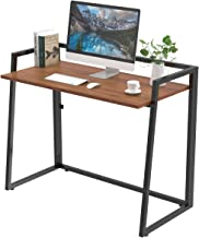 DESIGNA 41 Inch Folding Computer Desk, Study Table Workstation for Teen Student, Home Office Desk Easy to be Fold up or Unfolded for Writing &Laptop Working & Crafting, Walnut
