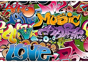 KonPon 5x7ft Silk Cloth Graffiti Photography Backdrops Photo Props Studio Background KP-039