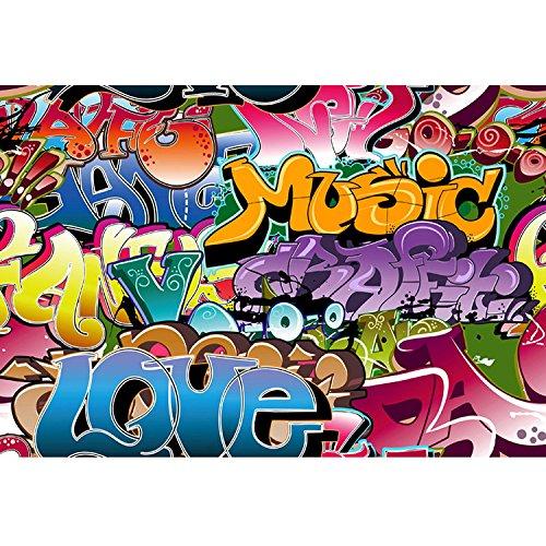Konpon 5x 7ft paño de seda Graffiti Photography fondo de estudio sesión de fotos kp-039