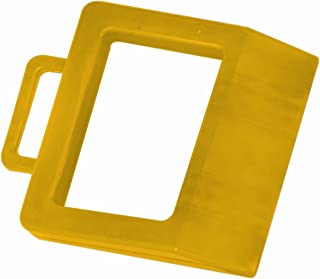 Wesco 272175 Hard Rubber High Visibility Pallet Truck Chock, 11-3/4