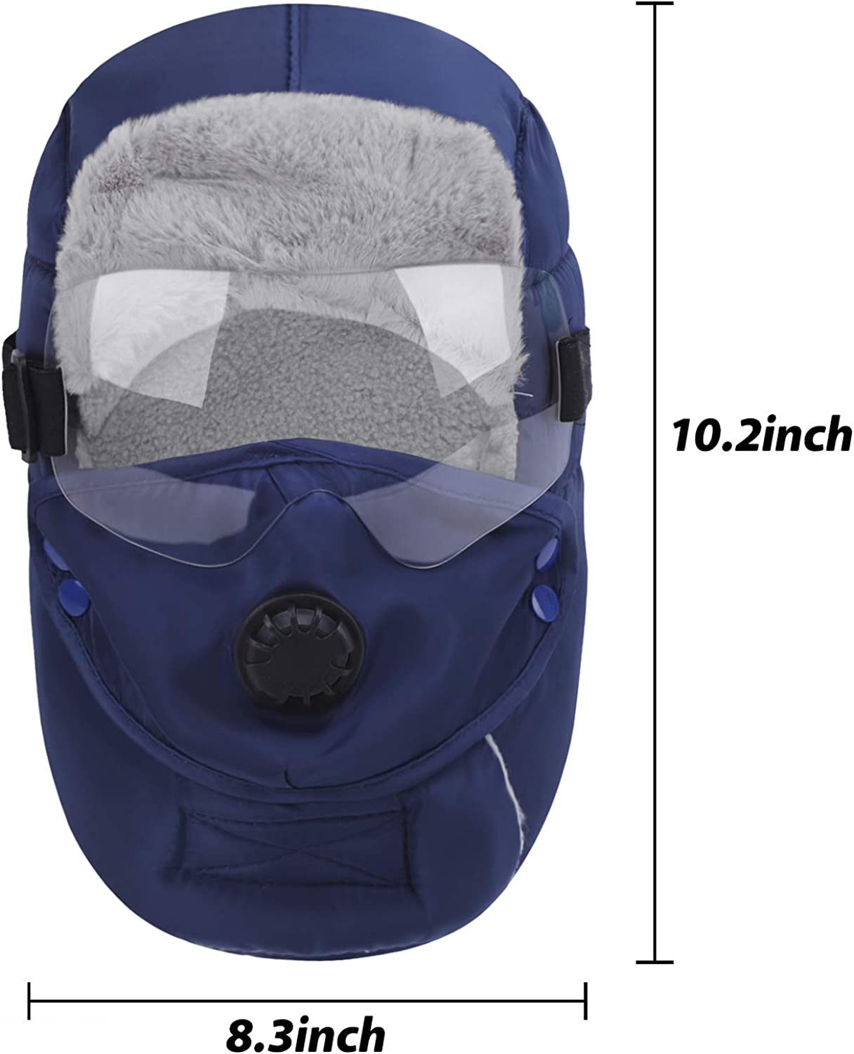 Afinder Kids Thick Fleece Lined Windproof Full Cover Balaclava with Glasses Mouth Cloth