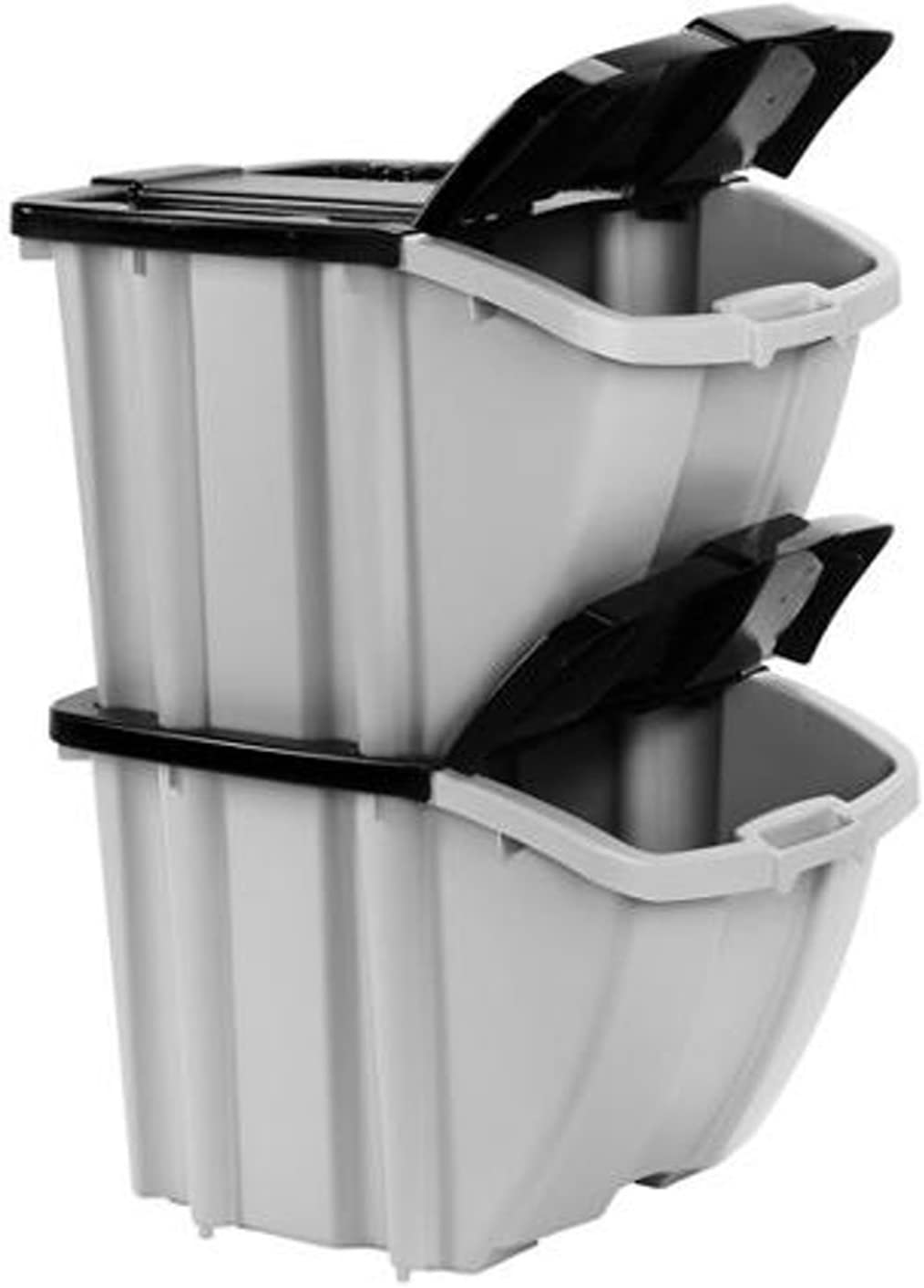 Suncast Max 78% OFF Stacking Recycling Ranking TOP8 Bins 2 Bin BH188810 Value Pack