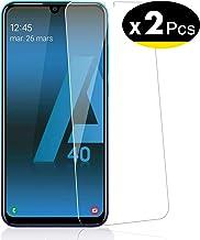 NEW'C Verre Trempé pour Samsung Galaxy A40, [Pack de 2] Film Protection écran - Anti Rayures - sans Bulles d'air -Ultra Résistant (0,33mm HD Ultra Transparent) Dureté 9H Glass