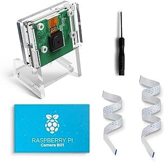 LABISTS Raspberry Pi Camera Module B01, 5M 1080P Risoluzione per Raspberry Pi 4, Pi 3, Pi 2, RPi Camera Set con Custodia Protettiva, 2 Cavi di Nastro (10cm &15cm)