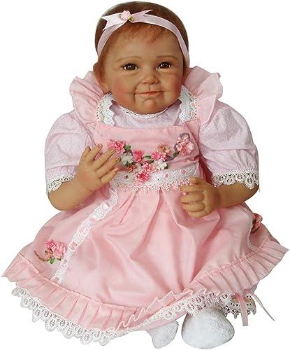 0Miaxudh 46cm Rebornpuppe, handgemachtes lebensechtes neugeborenes Baby, nachgemachtes Vinylsilikon-Spielzeug, Rebornpuppe