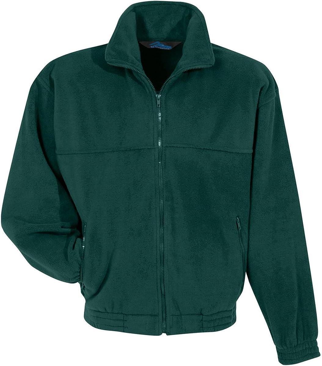 Tri-Mountain Fleece 7600 Tundra 10.5 oz. Heavyweight 100% Spun Polyester Forest Green