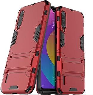 LXHGrowH Funda Xiaomi Mi A3, Fundas 2in1 Dual Layer Anti-Shock 360° Full Body Protección TPU Silicona Gel Bumper y Duro PC Armadura con Soporte y Desmontable Carcasa para Xiaomi Mi A3, Rojo
