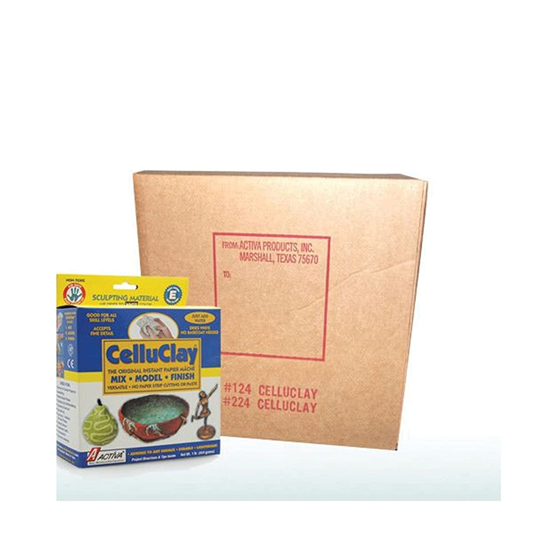Activa CelluClay Instant Papier Mache, 24 Pound White