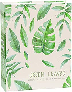 Starthi Green Leaves Design Photo Album Slip in 4 x 6 Inch 100 Pockets Scrapbook Family Memory Book Baby Children Photo Al...