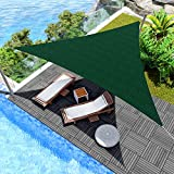Windscreen4less 12' x 12' x 12' Sun Shade Sail UV Block Fabric Canopy in Green Triangle for Patio Garden Patio Customized