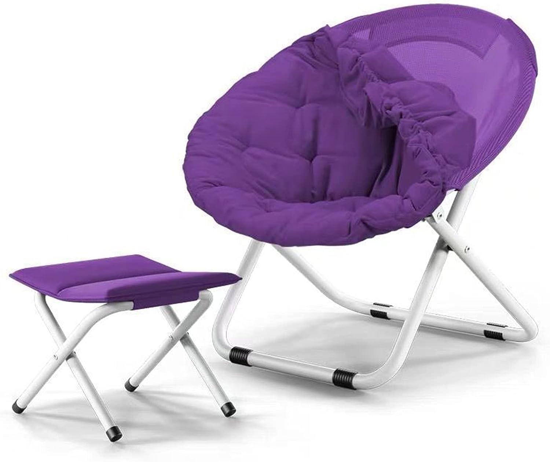 Folding Moon Chair Removable Saucer Sun Lazy San Jose Max 84% OFF Mall