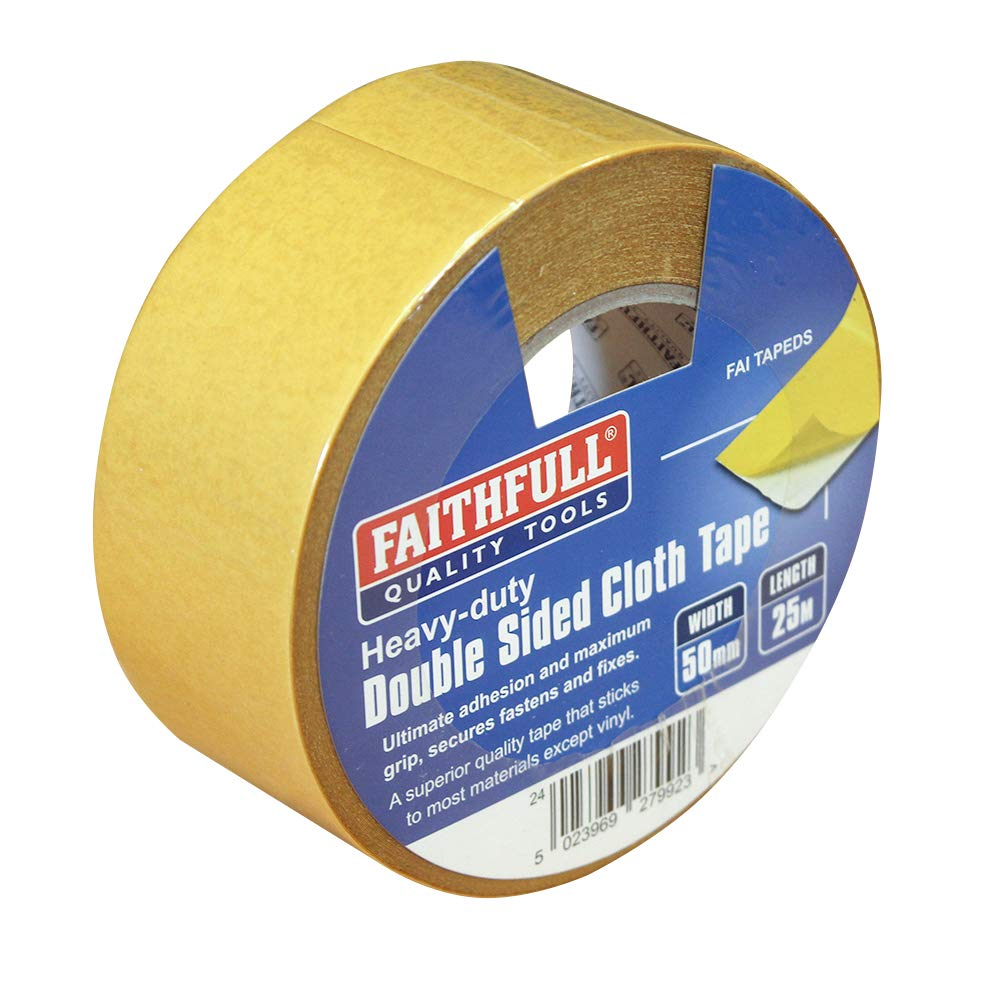 Faithfull FAITAPEDS Double High order Sided Heavy-Duty 25m x 5 Tape Charlotte Mall Length