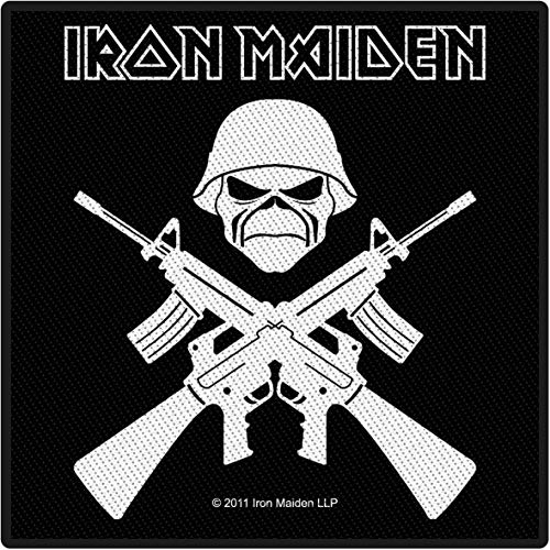 Iron Maiden A Matter Of Life And Death Unisex Patch Standard 100% Polyester Band-Merch, Bands