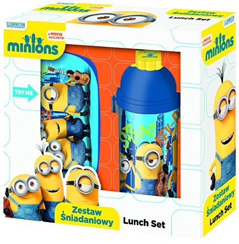 Exclusiv* Minions Brotdose + Flasche Set Minions Schule Kindergarten Sport Frühstückset EDEL