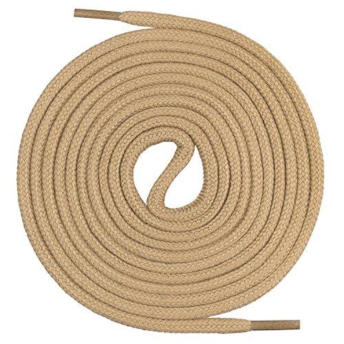 Mount Swiss runde Premium-Schnürsenkel aus 100% Baumwolle - sehr reißfest Farbe Camel Länge 120cm