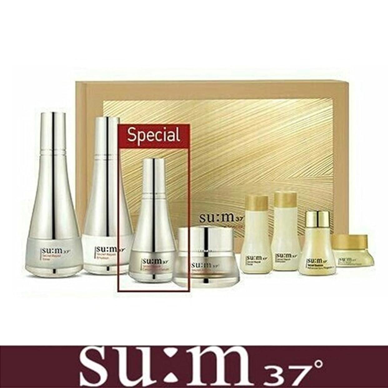 数学者バルコニー飛行場[su:m37/スム37°] SUM37 Secret Repair 3pcs Special Skincare Set / シークレットリペア3種セット+[Sample Gift](海外直送品)