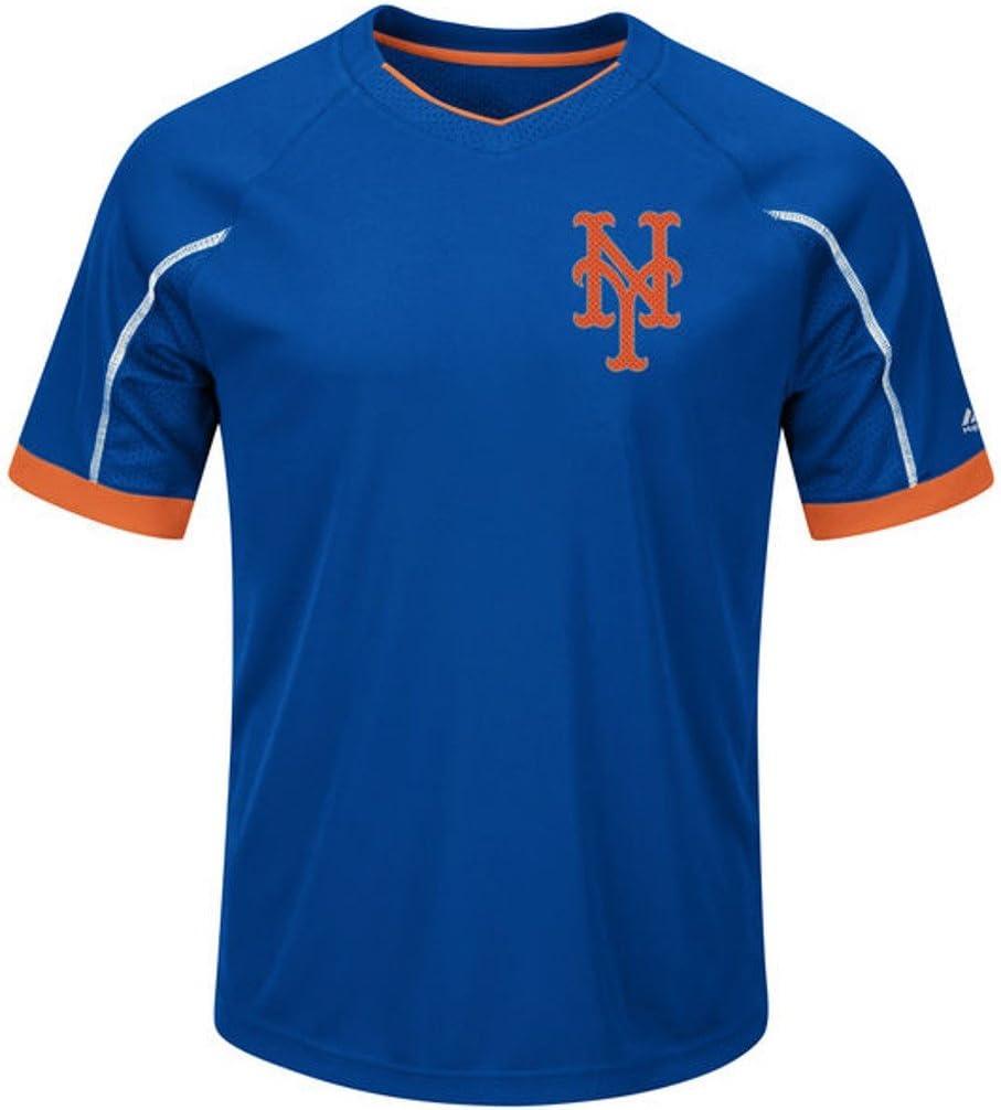 VF New Import York supreme Mets MLB Majestic Shirt Base Emergence Mens Cool Big