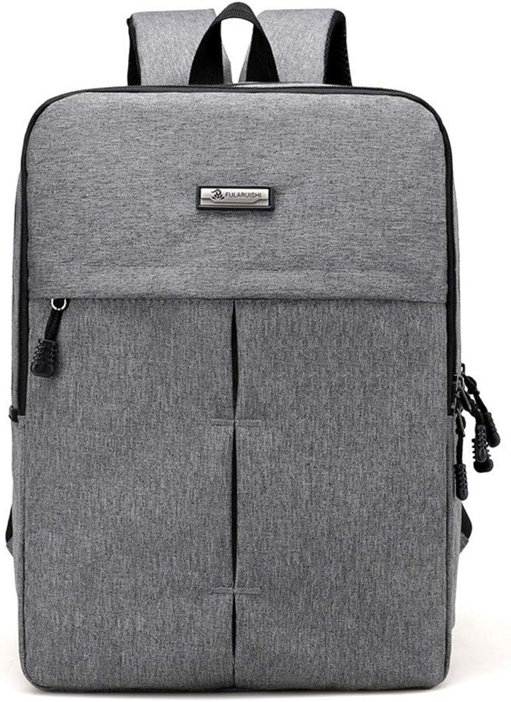 Rucksäcke Herren Freizeit Umhängetasche Business Travel Mode Laptop Laptop Laptop Große Kapazität Grau B07KDD62VL f0cbf7