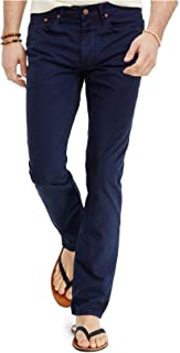 Men's Flat Front Stretch Slim Straight Fit Pants