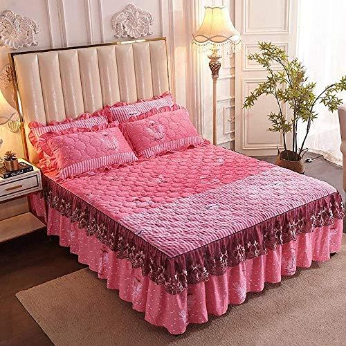 Bett Rock Anzug 3 Stück Ruffle Rock BettSpread Set Einbau Bett Bügeltropfen...