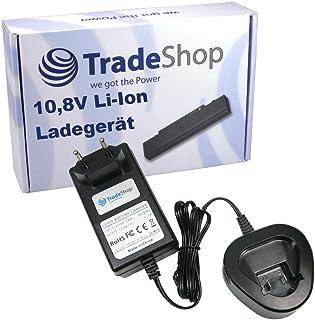 Trade-Shop 10,8 V Li-Ion batteriladdare laddningsstation snabbladdare ersätter Berner 034300 för BACP 10.8, BTI 10.8