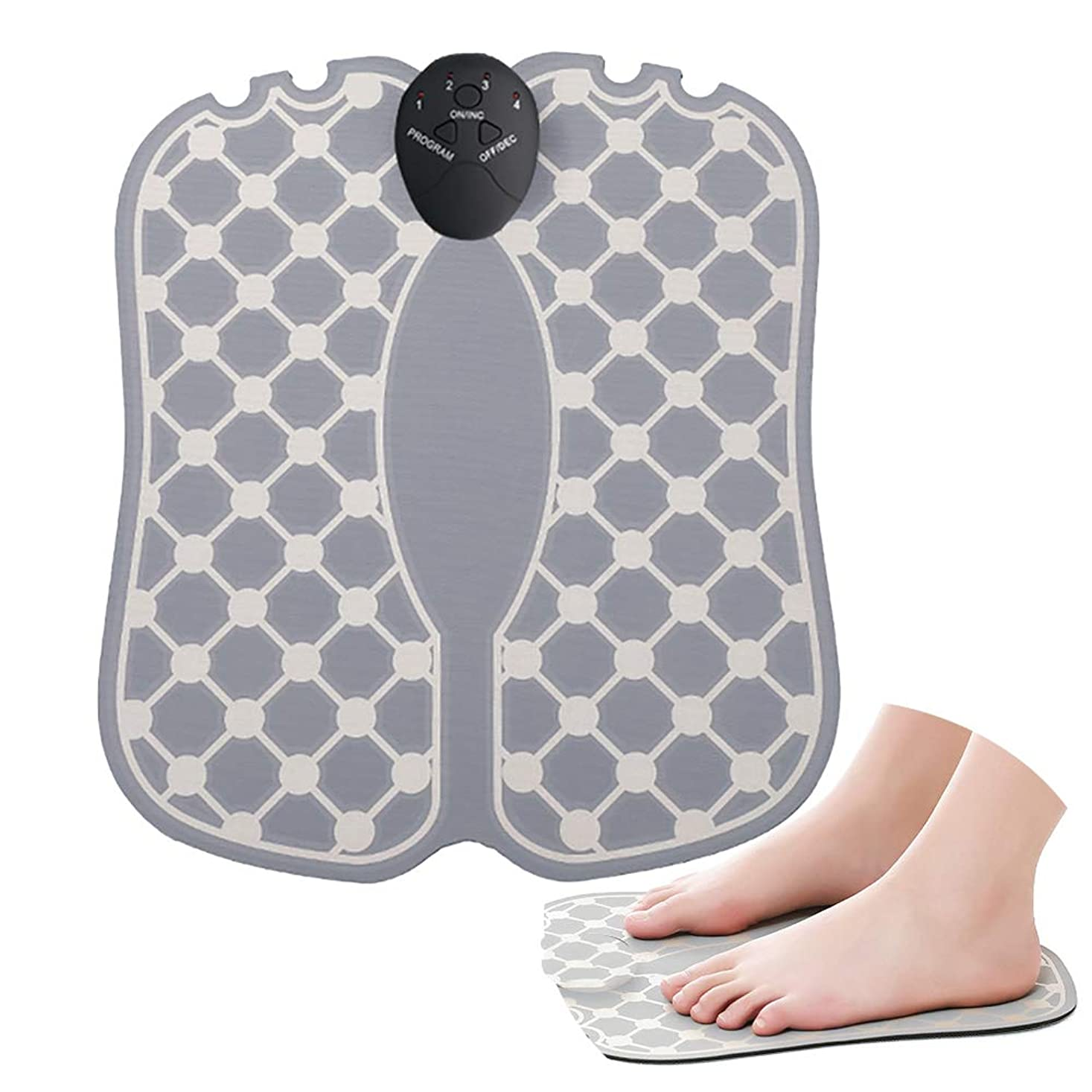ブラスト受信ペン足のマッサージトマッサージャーフットマッサージャーEMSの減圧は深いティッシュ、足の器械が付いている苦痛の足を緩めます