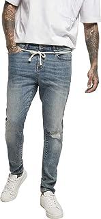 Urban Classics Men's Slim Fit Drawstring Jeans Trouser