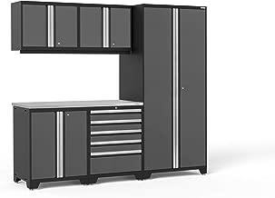 NewAge Products Pro 3.0 Gray 6 Piece Set, Garage Cabinets, 52049