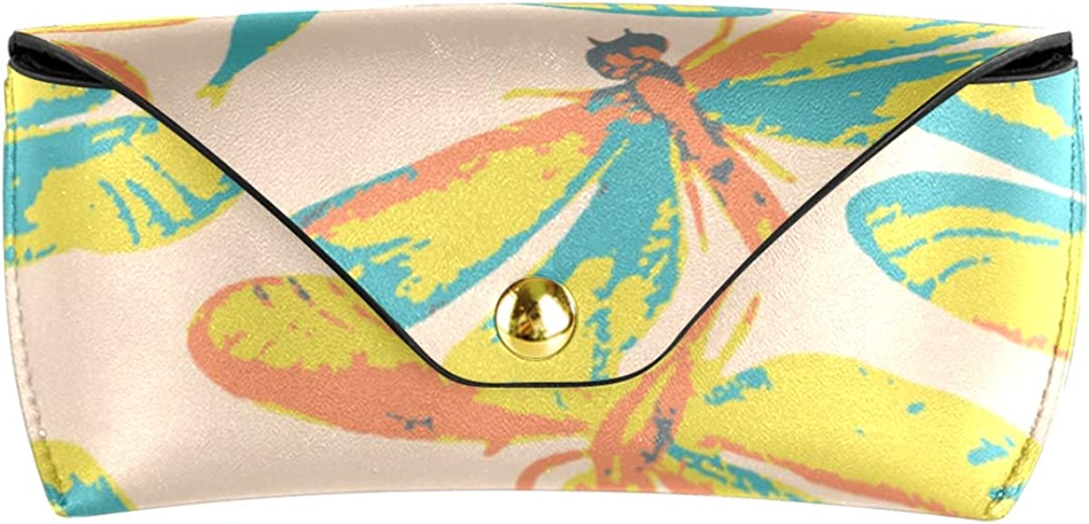 Sunglasses Case Eyeglasses Pouch Multiuse Portable Art Pattern Animal Insect Animal gift PU Leather Goggles Bag