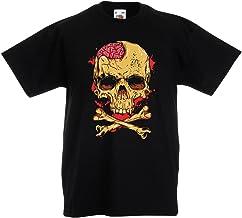 lepni.me Camiseta para Niño/Niña La Calavera