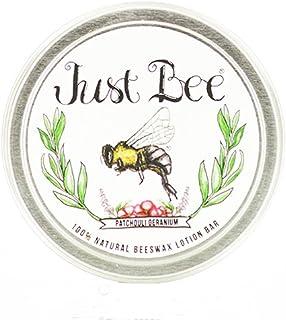 Just Bee 100% Natural Organic Naturally Gathered Beeswax Lotion Bar (Patchouli Geranium)