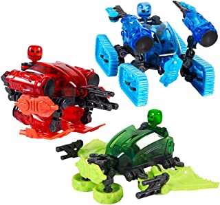 Zing Klikbot Megabots – Pack of Three – Green, Blue and Red - Toy Figures with Unique Accessories – For Kids 8 Plus