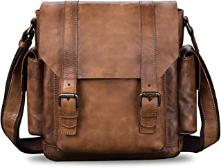 Men's Genuine Leather Crossbody Bag Vintage Handmade Casual Daypack