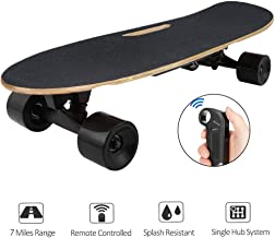 Aceshin Electric Skateboard Longboard with Remote Small for Kids Teens, 250W Motor, 12 MPH Top Speed