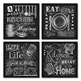 Chalkboard-Style Kitchen Signs
