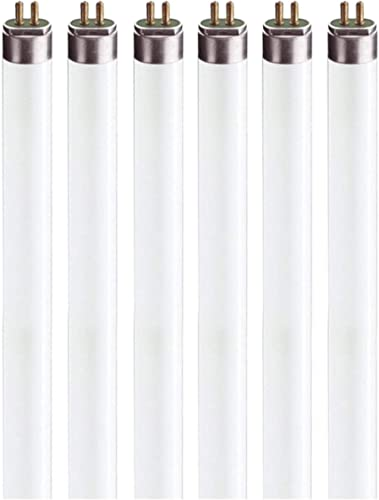 "F8T5 Flourescent Light Bulbs - 12"" Under Cabinet Bulb - Cool White 4100k 8 Watt Tube Bulb - Pack of 6"