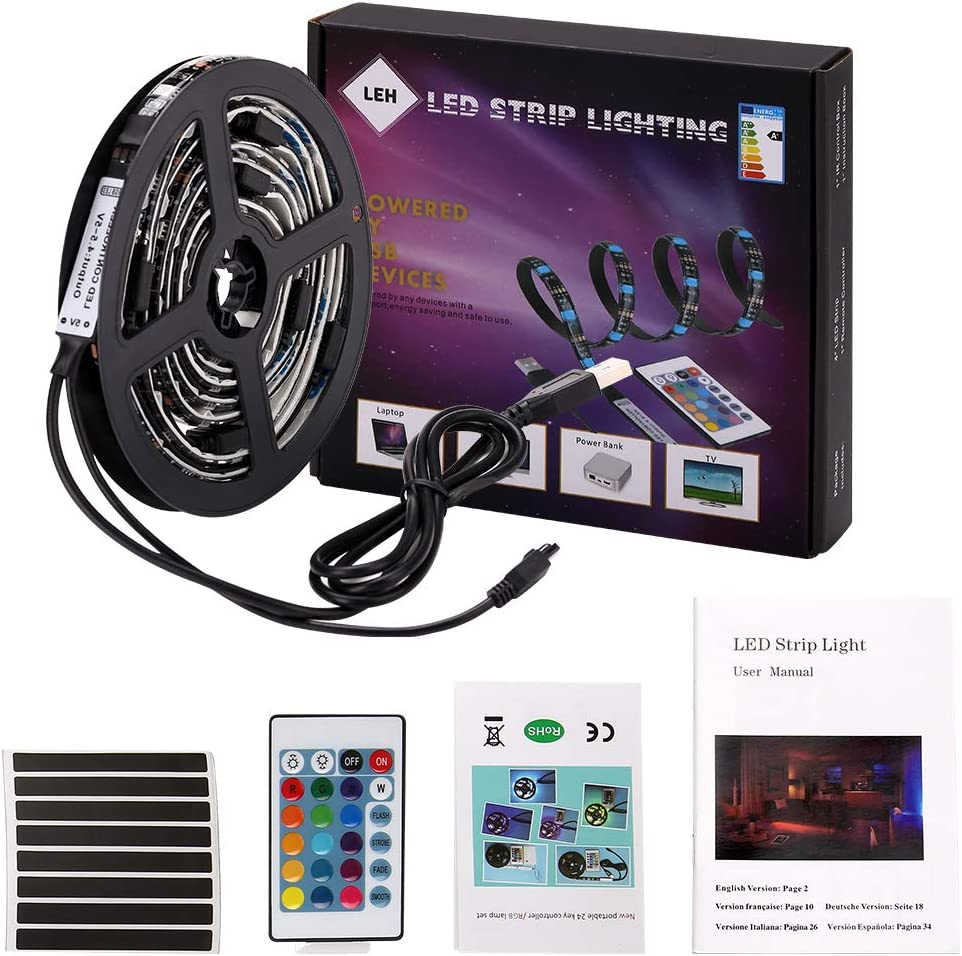 LED Light Strip 2 Free Super-cheap shipping anywhere in the nation Meters USB RGB Lights SMD 5050 L