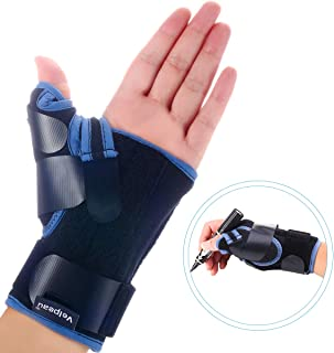 Velpeau Wrist Brace with Thumb Spica Splint for De Quervain's Tenosynovitis, Carpal Tunnel Pain, Stabilizer for Tendonitis, Arthritis, Sprains & Fracture Forearm Support Cast (Short, Left Hand -L)