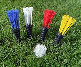 PleeFix, Location Marking Tufts for Soccer, Football, Baseball, Lacrosse, Athletic Fields - 25 Piece kit, Available in 6 Vivid Colors