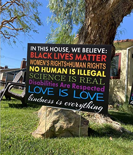 WE BELIEVE Yard Sign | Justice For All | Lawn Sign | BLACK LIVES MATTER