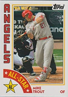 2019 Topps 1984 Topps All-Stars #84AS-MT Mike Trout Los Angeles Angels MLB Baseball Trading Card