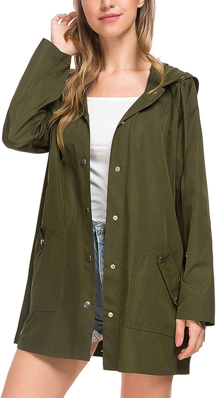 BBX Lephsnt Raincoat Womens Lightweight Hooded Waterproof Active Outdoor Rain Jacket